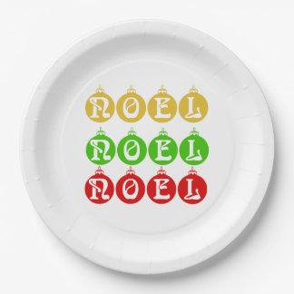 Noel Paper Plates