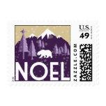 Noel - púrpura y oro sello