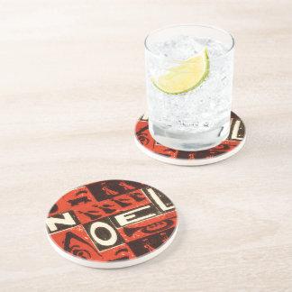 Noel Red Drink Coaster