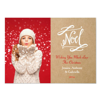 Noel Rustic Vintage Holiday Photo Card Groupon