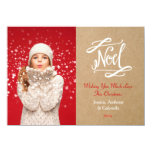 Noel Rustic Vintage Holiday Photo Card Groupon Custom Announcements