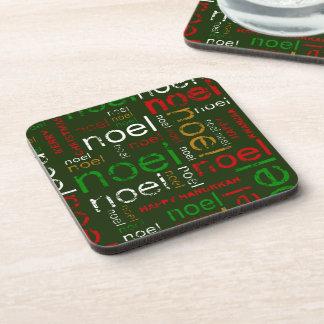 Noel Season's Greetings Beverage Coaster