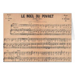 Noel Sheet Music French Christmas Card