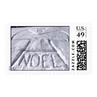 Noel Snow Angel Stamp