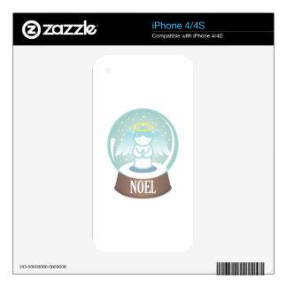 Noel Snowglobe iPhone 4 Skin