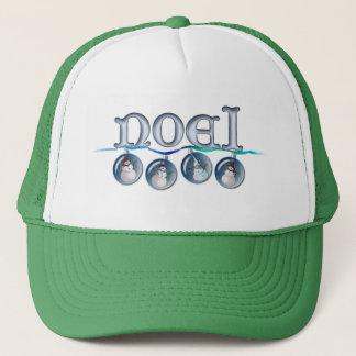 NOEL SNOWMAN GLOBES by SHARON SHARPE Trucker Hat