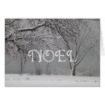 NOEL-Snowy Winter Landscape/Christmas Greeting Card