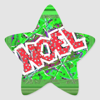 NOEL. STAR STICKER