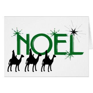 Noel tres hombres sabios va a los regalos de Belén Felicitación