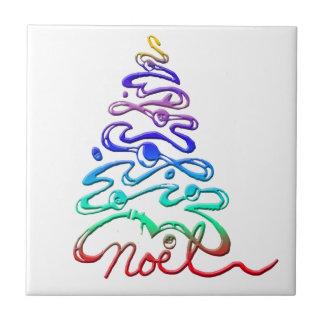 Noel Xmas Tree Ceramic Tile