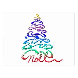Noel Xmas Tree Postcard