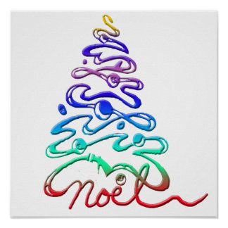Noel Xmas Tree Poster