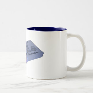Noes as No Nobelium and Es Einsteinium Two-Tone Coffee Mug