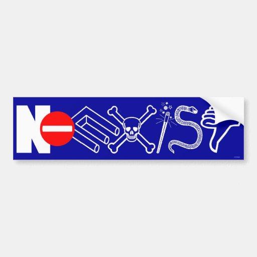 NOEXIST - blue Bumper Sticker Car Bumper Sticker