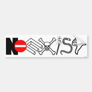 NOEXIST - white Bumper Sticker