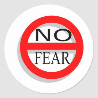 NoFear Classic Round Sticker