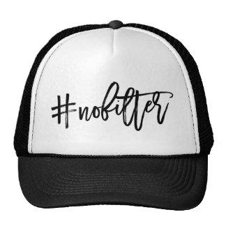 #NoFilter Hashtag Typography Trucker Hat