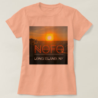 Nofo Long Island t-shirt with sunflower backdrop