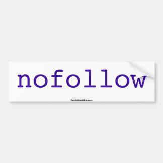 nofollow bumper sticker