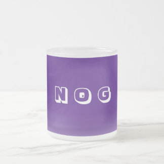 Nog Frosted Glass Coffee Mug