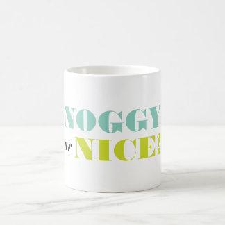 Noggy or Nice Retro Christmas Ornaments Mug