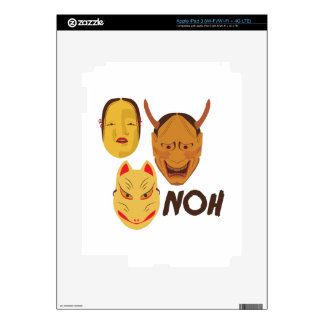 Noh Masks Decals For iPad 3