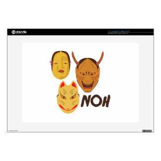 Noh Masks Skins For Laptops