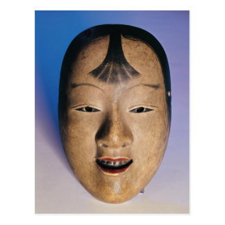 Noh theatre mask of a young boy called postcard