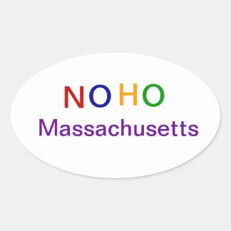 NOHO Massachusetts Calcomanía Ovalada