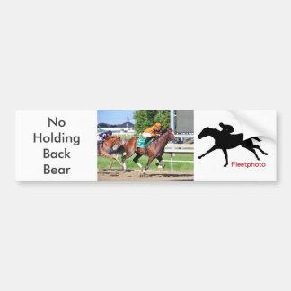 Noholdingback Bear Bumper Sticker