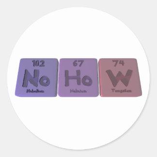 Nohow-No-Ho-W-Nobelium-Holmium-Tungsten.png Classic Round Sticker