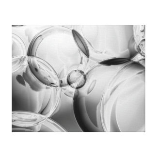 Noir Bubbles Canvas Print