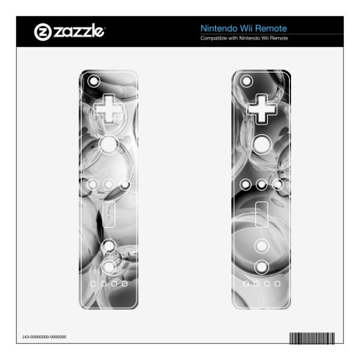 Noir Bubbles Skin For The Wii Remote
