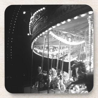 Noir carousel beverage coaster