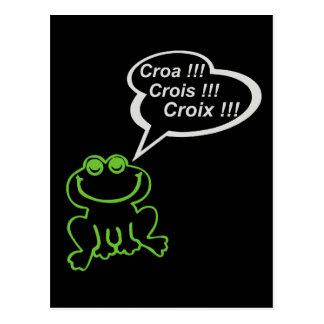 NOIR ENCARIÑADO de los gris del vert de Grenouille Tarjetas Postales