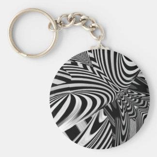 Noir et blanc keychain