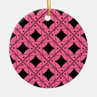 noir et rose patterns ceramic ornament