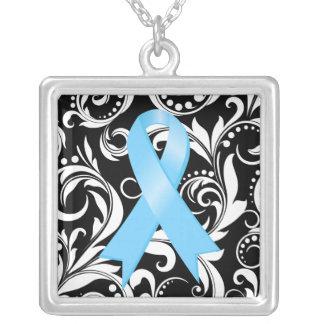 Noir floral de Deco de la cinta del cáncer de prós Grimpolas Personalizadas
