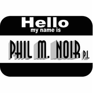 Noir Name Tag (pin) Statuette