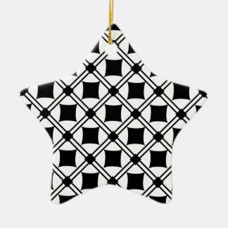 noir pattern ceramic ornament