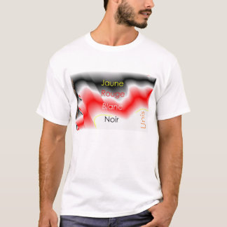 Noir-Rouge-Jaune-Blanc-Unis T-Shirt