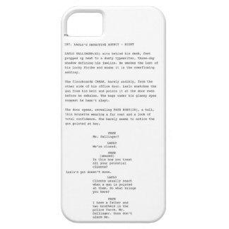 Noir Script iPhone Case iPhone 5 Cases