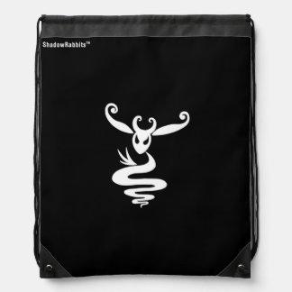 Noir the Shadow Rabbit Drawstring Backpack