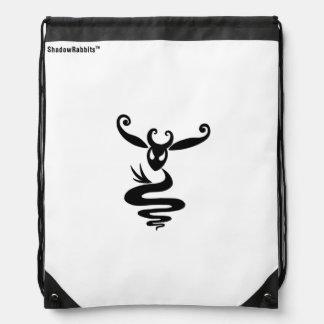 Noir the Shadow Rabbit Drawstring Bag