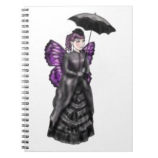 Noir violeta libro de apuntes