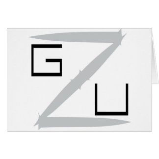 Noire de GZU Pointes Ecriture Tarjeta De Felicitación