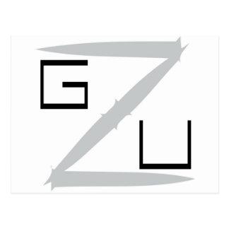 Noire de GZU Pointes Ecriture Tarjeta Postal