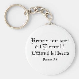 Noire de Psaume 22-9 Ecriture Llavero Redondo Tipo Pin
