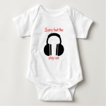 Noise cancelling headphones baby bodysuit