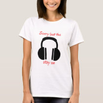 Noise cancelling headphones T-Shirt